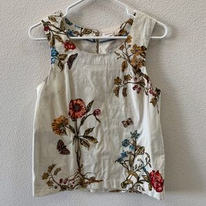 Meadow Rue (Anthropologie) floral top w/ pockets